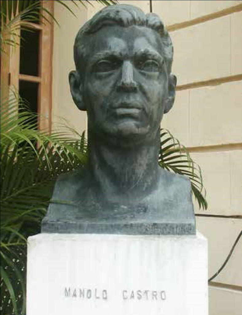 Busto de Manolo Castro en la Universidad de La Habana. Obra de Tony López (Foto de Johan Moya).