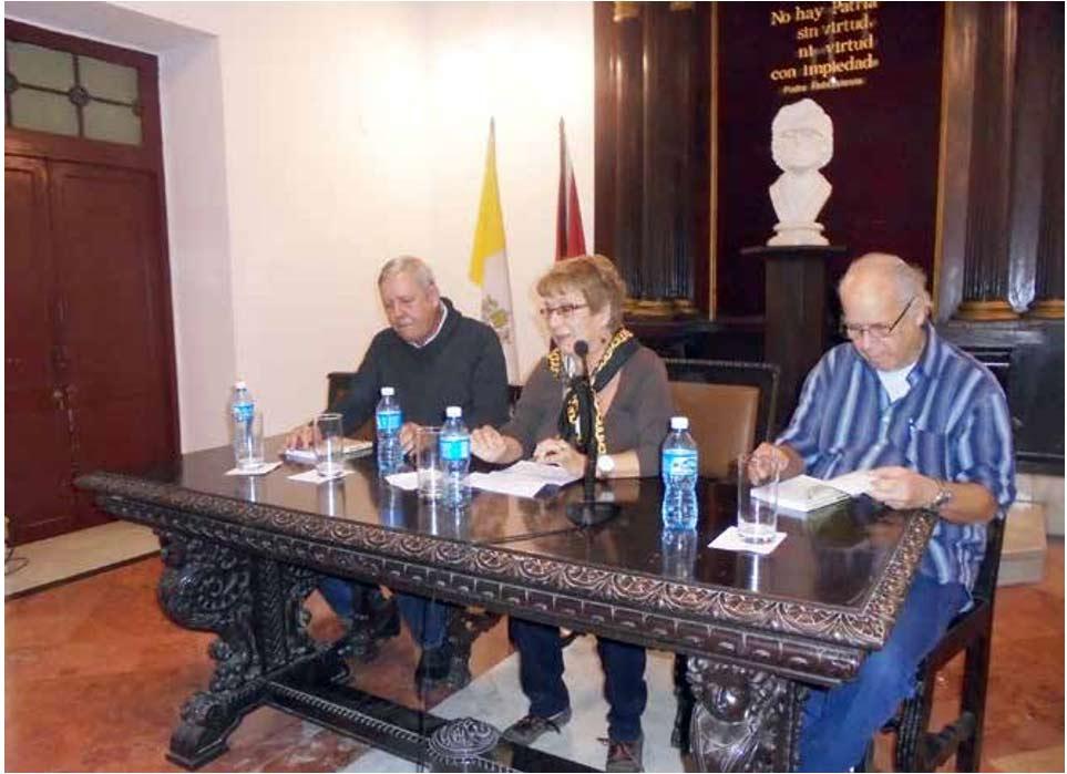 De izquierda a derecha: Jorge Domingo Cuadriello, Cira Romero y Ricardo Luis Hernández Otero.