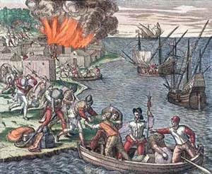 Jacques de Sores saqueó e incendió La Habana en 1555.