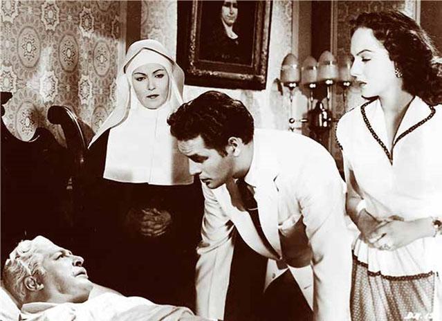 Fotograma de la versión cinematográfica de El derecho de nacer, realizada en México en 1952.