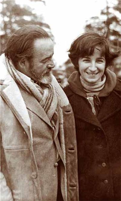 Eliseo Diego y su hija, Josefina de Diego, Fefé, en Moscú, 1981.