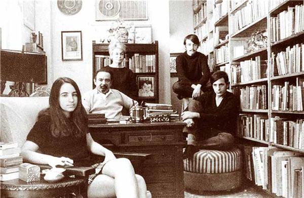 Eliseo Diego y familia (1970).