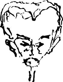 Autocaricatura de José Martí.
